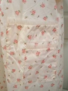 Vintage Weinberg Pink Rose Nylon House Dress Robe Size XL Bust 50 NOS