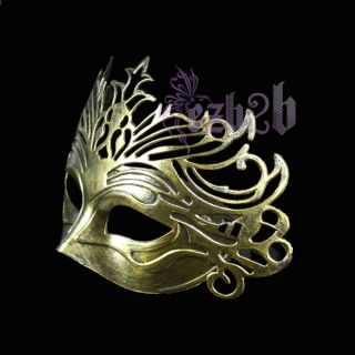 Crown Party Mask Costume Venetian Masquerade Ball Party Golden