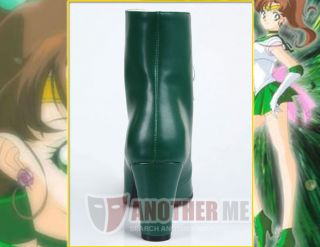 Me™ Sailor Moon Sailor Jupiter Anime cosplay Custom Made Boots Shoes