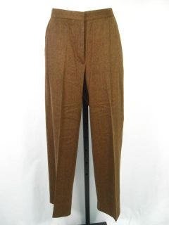 Max Mara Brown Wool Blend Dress Pants Slacks