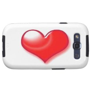 Red Heart Samsung Galaxy S3 Covers