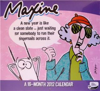 Maxine A 16 Month 2012 Wall Calendar New Factory SEALED Mint