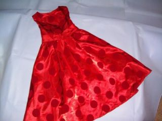 RARE Too Von Maur Girls Holiday Christmas Red Satin Embossed Dress Sz