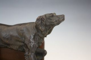 C1870 Pair of French Bronze Hunting Dogs by J Moiginez for Tiffany Co