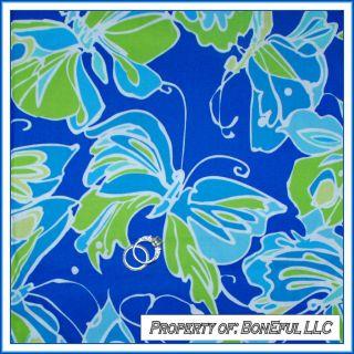 BonEful Fabric FQ Cotton Quilt Maywood Studio Blue Green White L