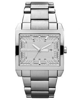 Armani Exchange Watch, Mens Stainless Steel Bracelet 43mm AX2201
