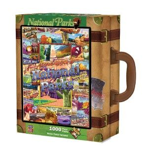 Masterpieces Kate Ward Thacker National Parks Suitcase Box Jigsaw