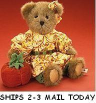 Boyds Bears Mazie Autumnworth Bear Plush Pumpkin Enesco Fall Autumn