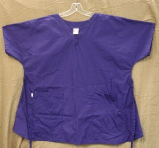 Grape Purple Maternity Sassy Scrub Top Size XL Comfy