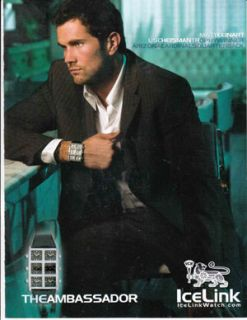 Wrist Watch Magazine Print Ad Arizona Cardinals Matt Leinart