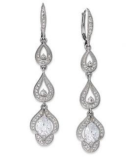 laundry earrings gold tone crystal linear earrings $ 78 00