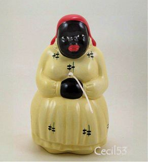 Lady Jemima McCoy Pottery String Yarn Holder Yellow