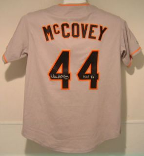 Willie McCovey Signed Jersey San Francsico Giants w HOF
