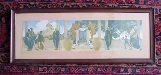 Great Antique 1906 Maxfield Parrish Old King Cole Print Original Frame