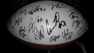 2012 NOTRE DAME FIGHTING IRISH team signed football  PROOF 25 SIGS