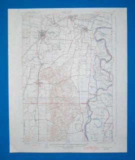 RARE Vintage Mcminnville Oregon 1940 Topo Map