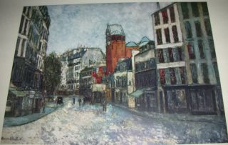 Vintage Print Rue Des Abbesses by Maurice Utrillo ✿