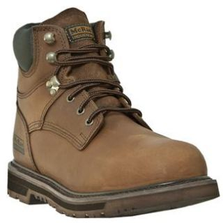 McRae Industrial Tan 6 Lace Up Work Boots Occupational footwear Shoes