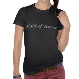 KRW Maid of Honor Script Shirt