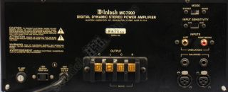 McIntosh MC7200 Digital Dynamic Stereo Power Amp Box