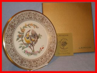 Lenox China Collector Plate The Meadowlark Artist Edward Marshall