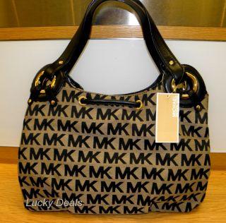 Michael Kors McGraw Tote MK Sig Handbag Bag Black