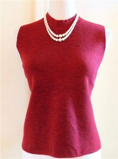 Eileen Fisher Red Wool Sweater Top P M