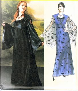 McCall Costume Pattern 4089 Witch Gothic Gown Very Loose Drawstring