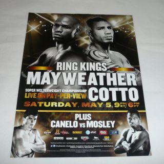 boxing ad page ~ FLOTD MAYWEATHER vs MIGUEL COTTO, Canelo vs Mosley