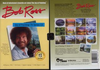 New Bob Ross Joy of Oil Painting TV Series 13 DVD Art