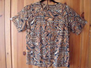 Norton McNaughton Animal Print Ladies Shirt Blouse 10 P
