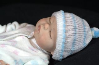 Clay Baby Girl Original Art Doll by Sculptor Kimberly McClung