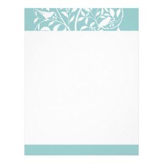 White Birds in Tree Custom Letterhead