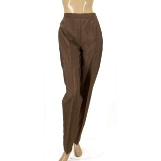 Max Mara Made in Italy Brown Tapered Slim Fit Light Weight Dress