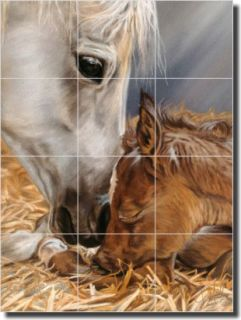 McElroy Horses Equine Home Decor Ceramic Tile Mural Art