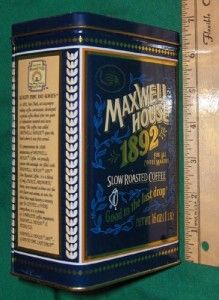 Maxwell House 1892 Advertising Tin 100 Year Anniversary