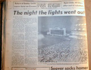 Best 1977 New York City Blackout Newspaper NY Post Special Edition w