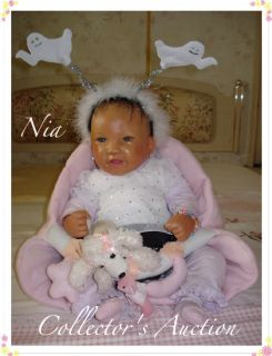 Ethnic AA Biracial Reborn Baby Girl Nia