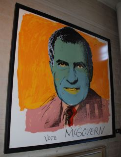 Signed Andy Warhol Screenprint Vote McGovern 1972
