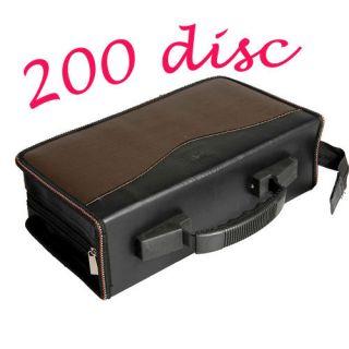 Practical 200 Disc CD DVD Storage Bag Holder Wallet Case R Media