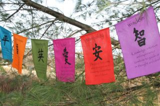 Affirmation Prayer Flag String Meditation Garden Banner Colorful