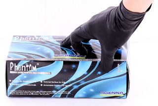 Black Phantom Medical Latex Gloves Price per 1 Box
