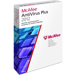 New McAfee Antivirus Plus 2012 3 PC 3 User Retail Internet Security