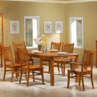 Meadowbrook Dining Room 7 Piece Set Table Chairs Light Pine Finish