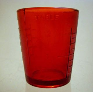 Ounce Ruby Red Bar Shot Glass or Measuring Cup