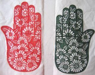 10 Henna Rubber Stencil Stencils Mhendi Mehndi Tattoo Design Designs