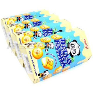 Meiji Hello Panda Sweet Milk Cream Japanese Biscuit Snack Cookie Candy