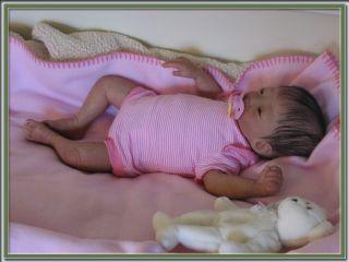 Reborn Baby Asian Girl with Human Hair Kameko Sculpt by Tasha Edenholm