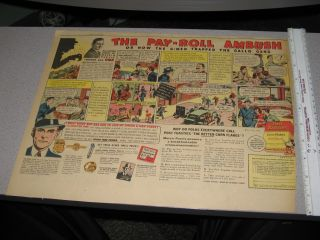 Newspaper Ad 1930s Melvin Purvis G Man Comic Book Strip Premium