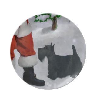 Scottish Terrier Lovers Christmas Plates